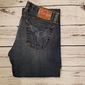 Lucky Brand Gene  dungarees jeans Size 8 long